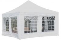 Artlands eTrading GmbH Pavillon Partyzelt 4x4 Meter weiß Festzelt Stahlgestänge