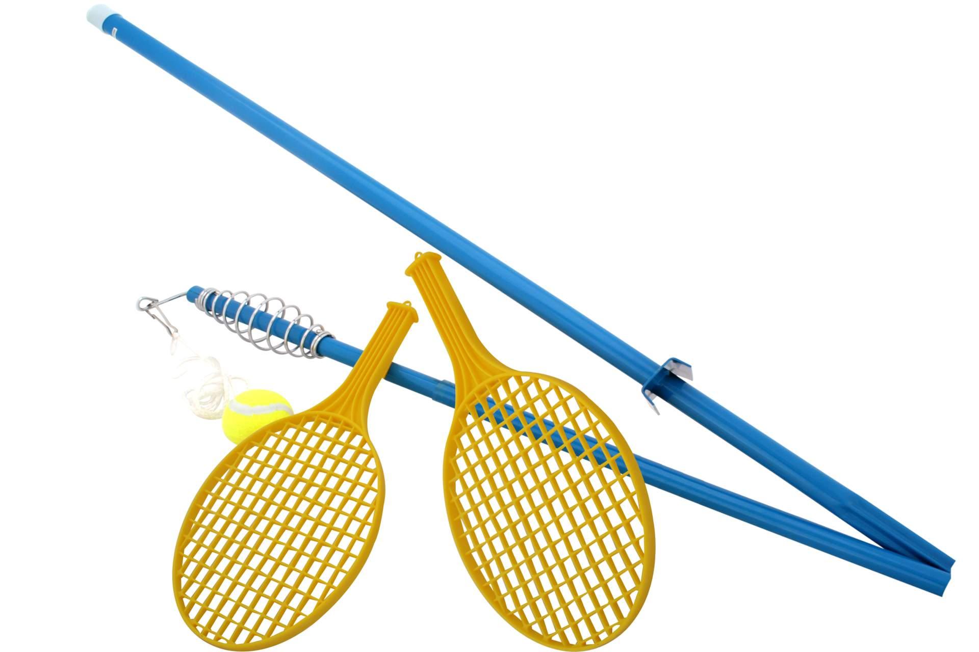 tennisspiel standtennis kinder garten spiel an metallstange spielzeug f r drau en spielwaren. Black Bedroom Furniture Sets. Home Design Ideas