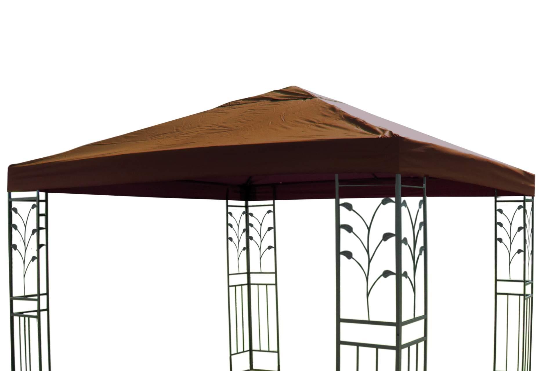 pavillon ersatz dach lukas 3x3 m taupe braun stoffdach gartenm bel haus und garten. Black Bedroom Furniture Sets. Home Design Ideas