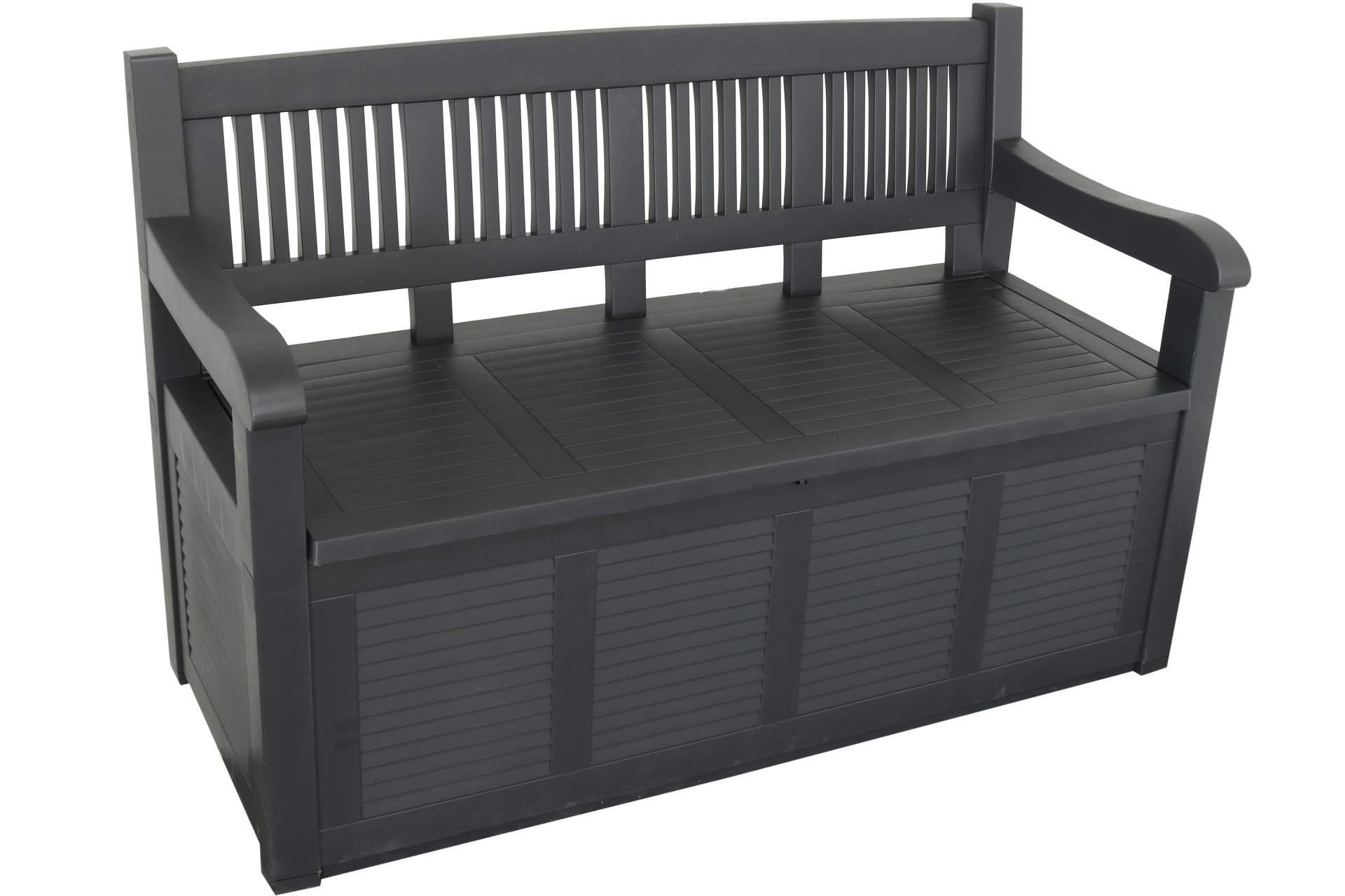 truhenbank salzburg 280l 130 x 60 x 85 cm garten auflagenbox gartenm bel haus und garten. Black Bedroom Furniture Sets. Home Design Ideas